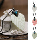 Women's Leaves Silver Plated Chain Pendant Chunky Choker Jewelry Necklace