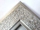 """2.3"""" Mayan Metallicc Silver Solid Wood Canvas Picture Frame-Custom Standard"""
