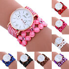 Fashion Women's Watch Diamond Leather Strap Bracelet Analog Quartz Wrist Watch