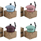 Ceramic Soup bowl with spoon and Lid - Choice of 4 colours