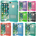 Clear Glitter Case Armor Shock Proof Impact Resistant 2 in 1 Cover for Cellphone