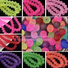 New 4mm 6mm 8mm10mm Jelly Like Rondelle Faceted Loose Spacer Glass Beads Jewelry