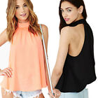 New Womens Sexy Chiffon Ladies Strapless Pure Casual Loose Tops Blouses T-Shirts