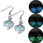 Fashion Heart Glow In The Dark Steampunk Ear Earrings Piercing Hook Jewelry Gift