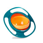 Baby Non Spill Feeding Toddler Gyro Bowl 360 Rotating Avoid Food Spilling Plate