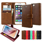 Shock Protection Flip Leather Wallet Case Cover Silicone For iPhone Galaxy LG