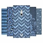 HEAD CASE DESIGNS PRINTED DENIM HARD BACK CASE FOR NOKIA LUMIA 800 / SEA RAY