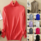 New Fashion Womens Loose Pullover Turtleneck Knit Sweater Cardigans Jumpers