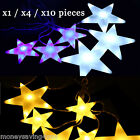 2M/7FT 60LED White And Blue Big Star Fairy Festival Christmas Curtain Light