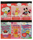 CLEVER FACTORY 2pc Set STICKER TABLET Bag Fillers VALENTINES DAY *YOU CHOOSE*