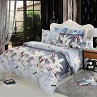 4pcs 3D Bedding Set White Lily Duvet Cover Bed Sheet King/Queen/Twin Size I5L7