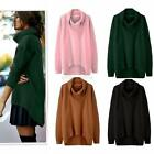 Fashion Women's Turtleneck Long Sleeve Irregular Loose Casual Jumper Tops Blouse