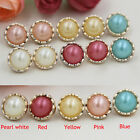 20/50pcs Round Resin Button Pearl Gold Edge Sewing DIY Craft Accessories 13mm