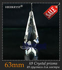 1 Clear Chandelier Glass Crystals Lamp Prisms Parts Hanging Drops Pendants 2.5''