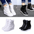 Women's Fashion Ankle Boots High Top Wedge Hidden Heels Sneakers Shoes Size
