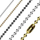 Stainless Steel Ball Chain Necklace Silver, Black, Gold or Rose Gold