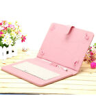 """iRULU Universal 10"""" Micro USB Keyboard Folio Case Stand Cover PU for Tablet PC"""