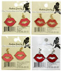 FASHION JEWELRY* Costume EARRINGS Lips w/Studs VALENTINES DAY Sale! *YOU CHOOSE*