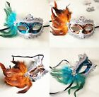 Party Queen MASQUERADE EYE MASK HALLOWEEN Venetian Feather Mask You Pick