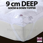 9cm Deep Extra Thick Dickens Mattress Topper Goose and Down Feather Warm
