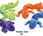 Gecko Lizard Bungee Dog Toys Durable Plush Stretch Colorful Squeaky Toy For Dogs