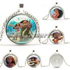 New Moana Glass Necklaces Silver Plated Pendants Choker Chain Women&Men Gifts  F