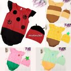 Baby Boys Girls Animal Costume Bodysuit Outfit Set Romper Clothes Jumpsuit N4U8