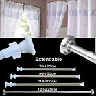 Extendable Telescopic Shower Curtain Rail Pole Rod Bath Wardrobe Window Curtain