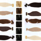 100% Remy Human Hair Extensions 1g/s Pre-bonded U Nail Tip Real Soft Hair JY92