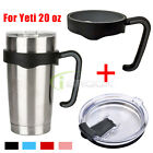Anti-slip Handle+Splash Spill Proof Lid for for Yeti Rambler 20 oz Tumblers Cup