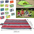 Waterproof Fleece Picnic Blanket Mat Rug for Outdoor Beach Travel(200x150CM)