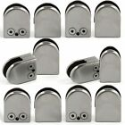 12X Glass Clamp Stainless Steel 304 Clip Flat Back Bracket For Balustrade 6-12MM