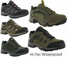 Mens Hi-tec Waterproof Leather Low Walking Hiking Trail Trainers Shoes Size 7-13