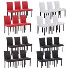 Set of 2/4/6/8 Modern Leather Parsons Dining Chairs Wood Frame Furniture C6D8