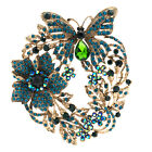 Flower Butterfly Brooch Broach Pins Rhinestone Crystals Women Jewelry 4489