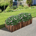 Elevated Flower Bed Plant Succulent Vegetable Gardening Box Backyard Wooden Fir