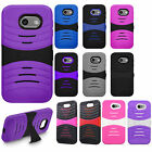 For Samsung Galaxy J3 Emerge Hard Gel Rubber KICKSTAND Case Cover + Screen Guard