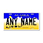 Personalized Alaska License Plate for Bicycles, Kid's Bikes, Atv's & cars Ver 1