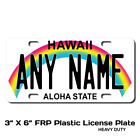 Personalized Hawaii License Plate for Bicycles, Kid's Bikes & Cars Ver 1