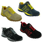 Groundwork Mens Safety Trainers Lace Up Steel Toe Lightweight Durable Work Shoes