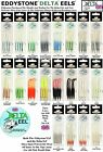 ORIGINAL DELTA EELS FISHING LURES PK4 VARIOUS COLOURS AVAILABLE UK 50MM or 65MM