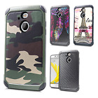 For Sprint HTC BOLT Rubber IMPACT TRI HYBRID Case Skin Phone Cover Accessory