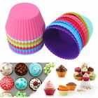 10PCS Soft Silicone Cake Muffin Chocolate Cupcake Bakeware 7cm Round Mold Mould