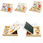 Educational Animals Wooden Magnetic Puzzle Kids Toys Jigsaw Baby Drawing Board