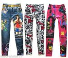 Leggings Girls Leggings Tattoo Leggings Girls Jeggings 12-16 years UK 6 8 10