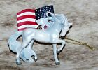 "TRAIL OF PAINTED PONIES Unconquered 2017 Ornament~2.75"" Tall ~ U.S.A. Spirit ~"