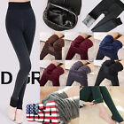 Women Winter Thick Warm Fleece Lined Thermal Stretchy Leggings Pants US STOCK