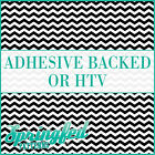 Black & White Chevron Stripes Pattern #1 Adhesive Vinyl or HTV for Crafts Shirts