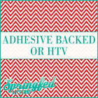 Red & White Chevron Stripes Pattern #4 Adhesive Vinyl or HTV for Crafts Shirts