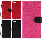 For Apple iPhone 5 5S SE ROSE Leather Wallet Case Pouch Flip Phone Cover